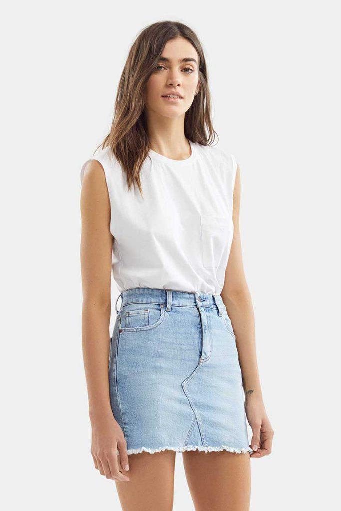 minifalda denim Adicta jeans verano 2021
