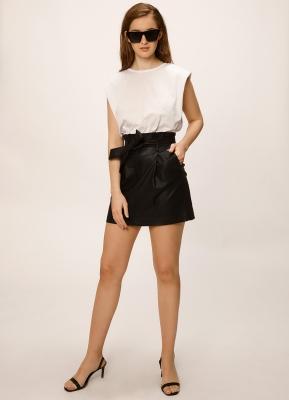 minifalda engomada melocoton verano 2021
