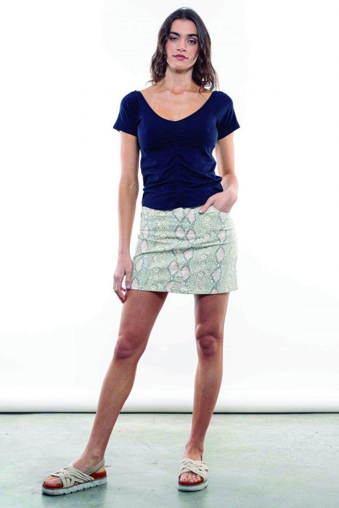 minifalda estampada kill verano 2021