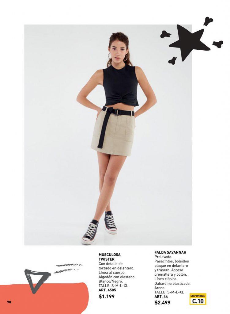 minifalda gabardina mujer wineem verano 2021