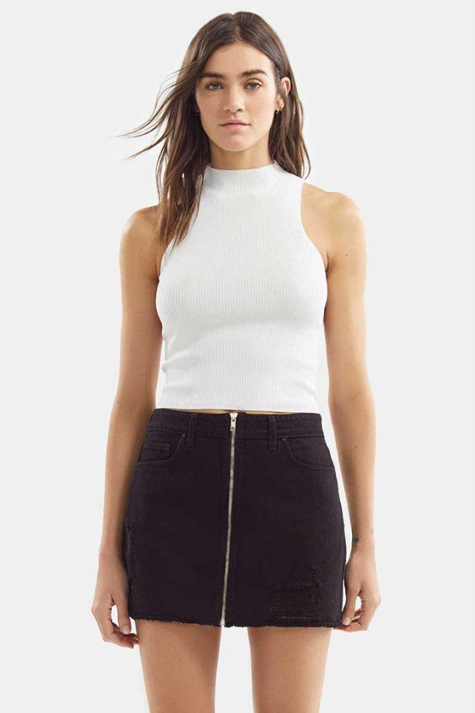 minifalda negra jeans Adicta jeans verano 2021