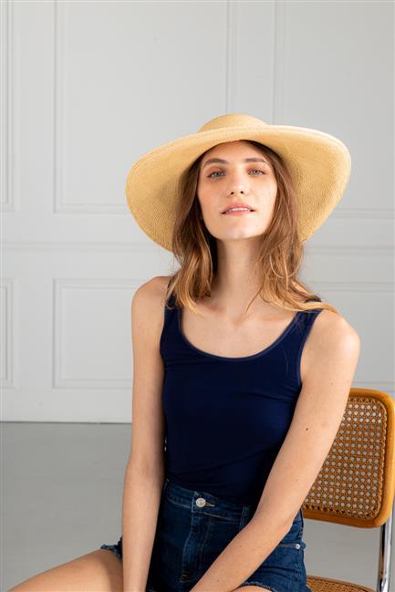 musculosa azul mujer koxis verano 2021