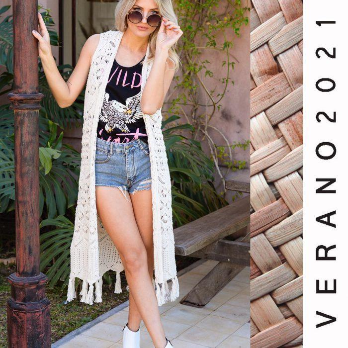 outfits bohemio en short de jeans by Sophya verano 2021