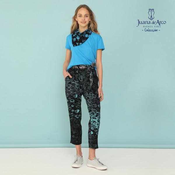 pantalon algodon estampado juana de arco verano 2021