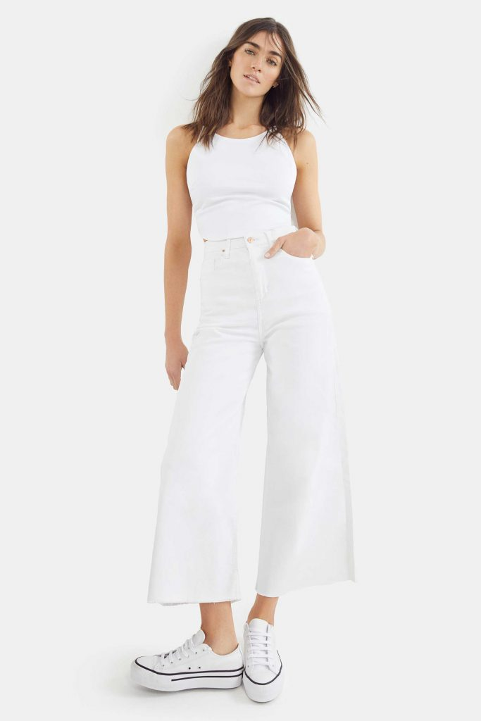 pantalon amplio blanco Adicta jeans verano 2021