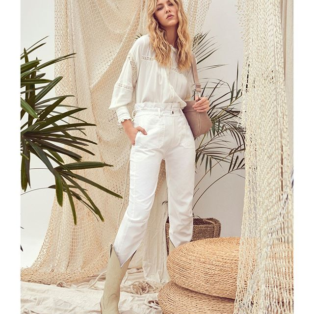 pantalon blanco casual moderno vesna verano 2021