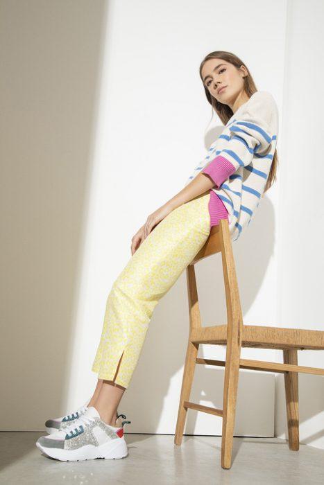 pantalon capri amarillo doll store verano 2021