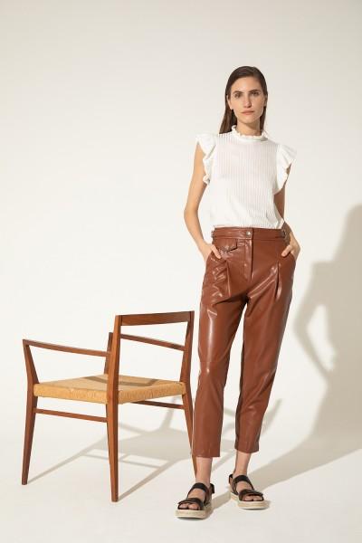 pantalon de cuero Clara Ibarguren verano 2021
