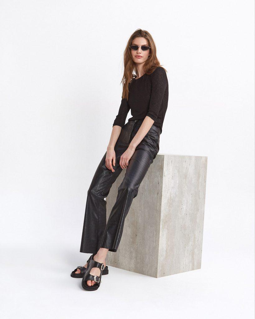 pantalon de cuero Desiderata verano 2021