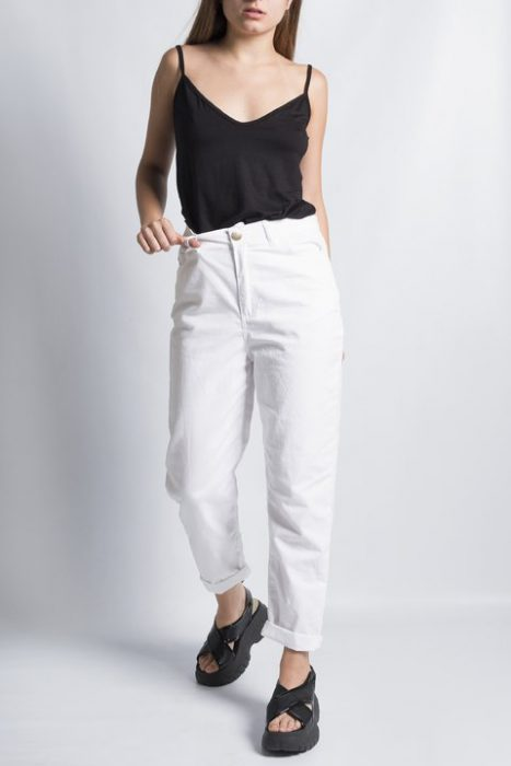 pantalon de gabardina blanco Clan Issime verano 2021