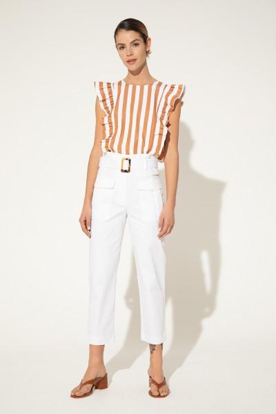 pantalon de vestir blanco Clara Ibarguren verano 2021