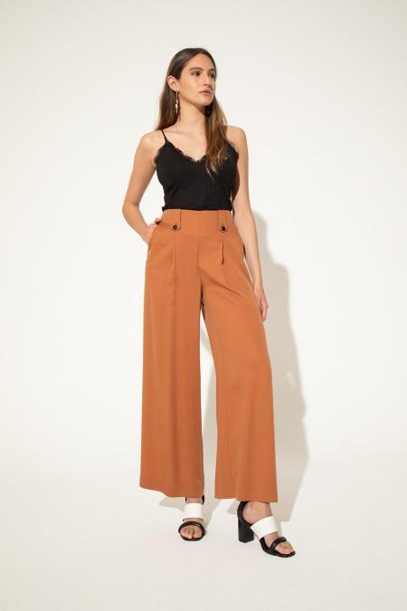 pantalon de vestir palazzo Clara Ibarguren verano 2021