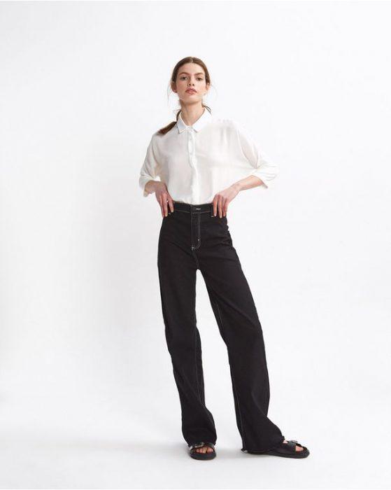 pantalon gabardina ancho Desiderata verano 2021