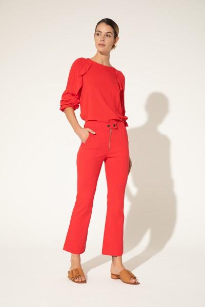 pantalon rojo moda Clara Ibarguren verano 2021
