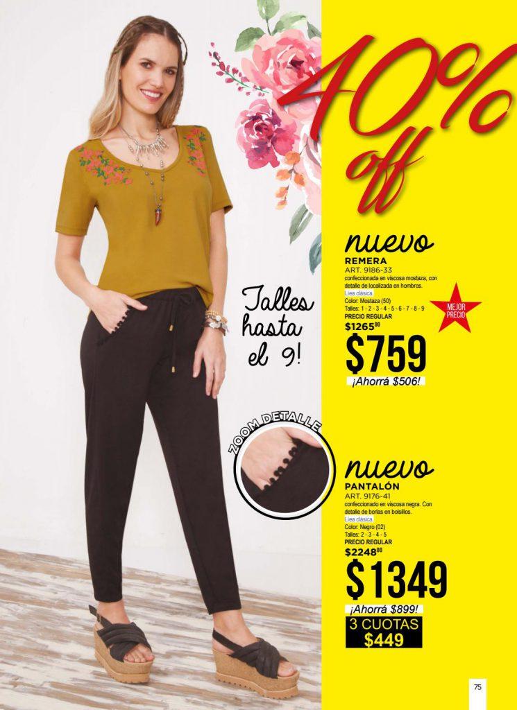 pantalones de algodon y remera informal mujer juana bonita primavera verano 2021