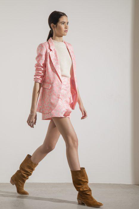traje de blazer y short mujer doll store verano 2021