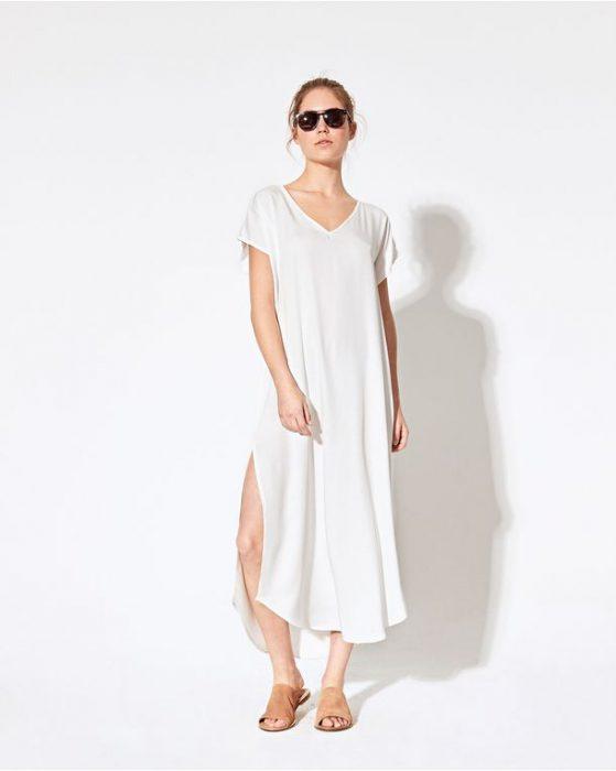 tunica blanca mujer System verano 2021
