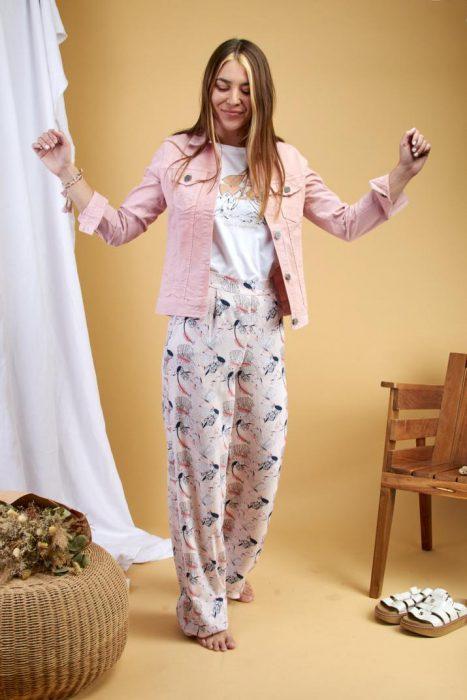 verano 2021 campera jean trilux rosa mujer coleccion primavera kevingston