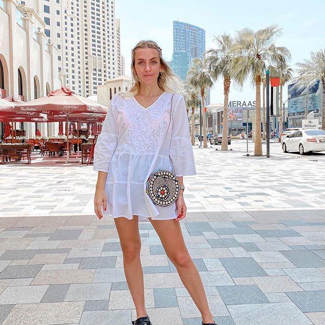 vestido blanco con broderie Vars primavera verano 2021