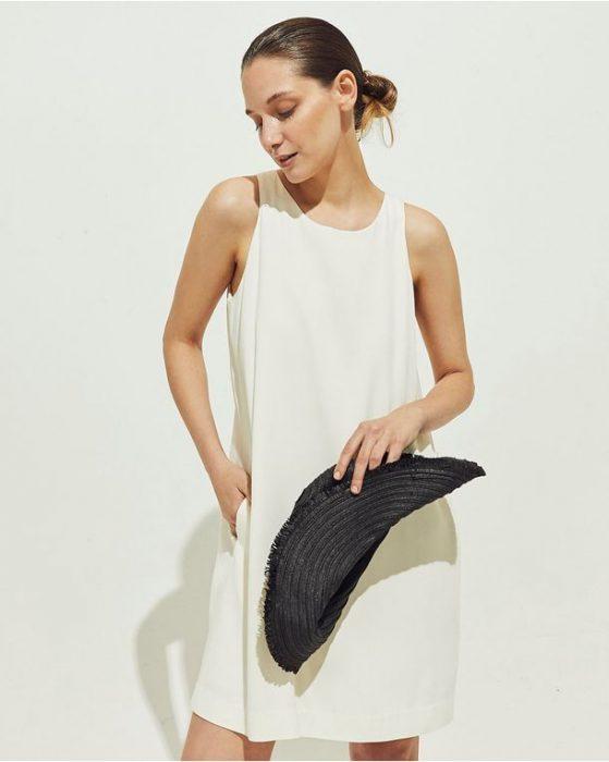 vestido blanco corto casual portsaid verano 2021