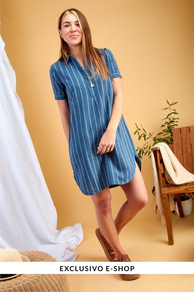vestido camisero casual kevingston mujer verano 2021