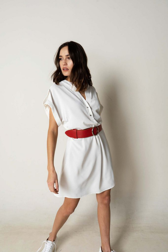 vestido camisero corto blanco la cofradia verano 2021