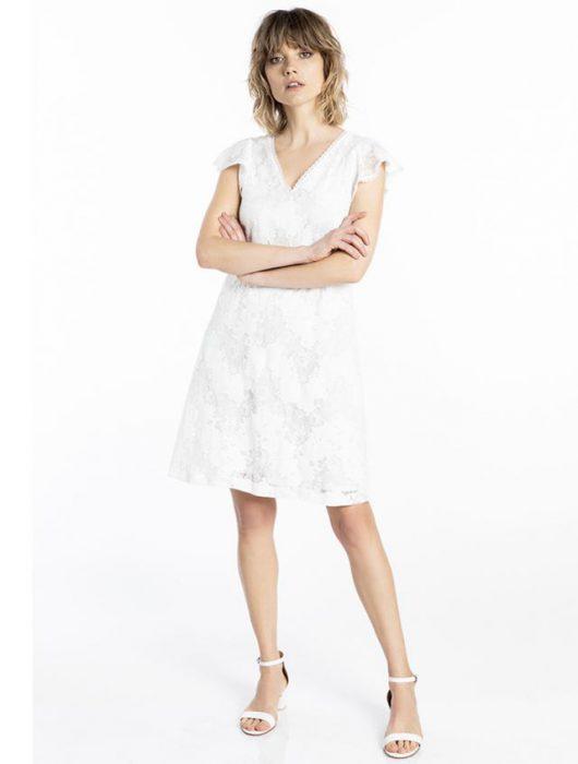vestido corto blanco verano 2021 Asterisco