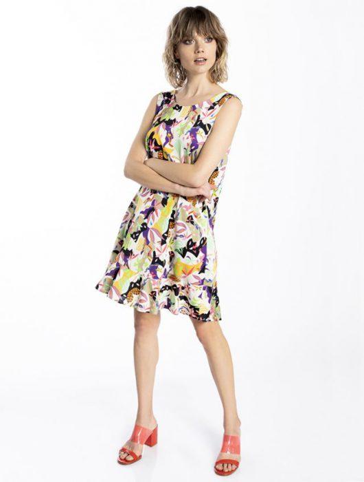 vestido corto estampado verano 2021 Asterisco