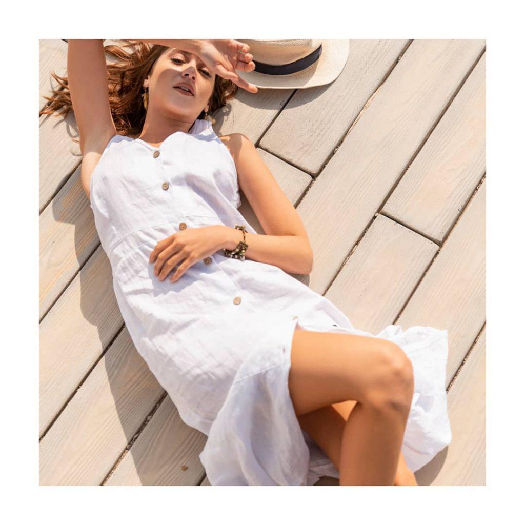 vestido de lino Zulas verano 2021