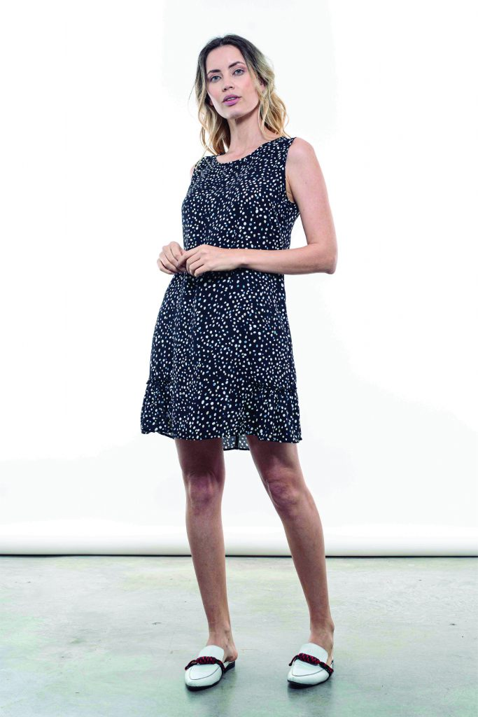 vestido fibrana estampada kill verano 2021