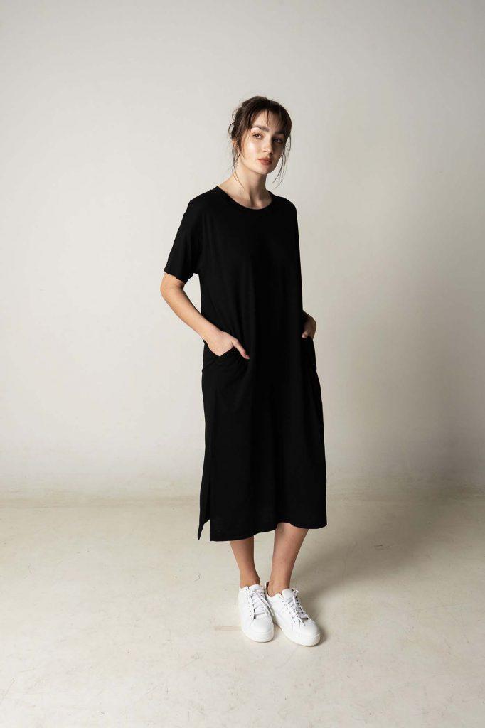 vestido midi mangas corta recto la cofradia verano 2021