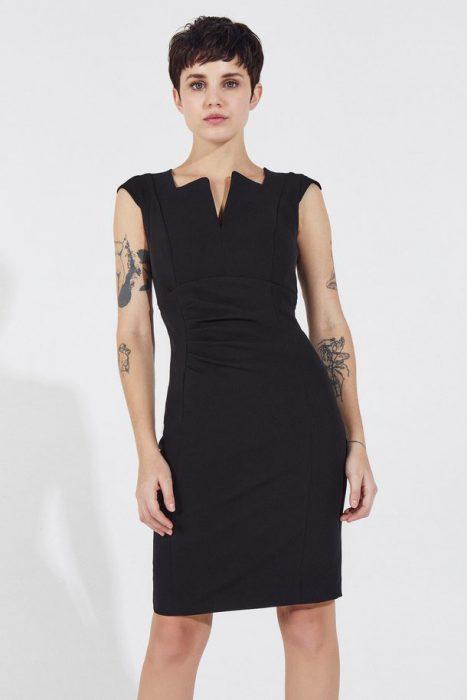 vestido negro sastrero markova verano 2021