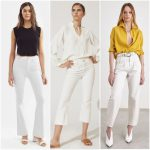 Outfits con jeans blancos mujer verano 2021