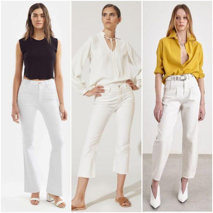 Looks con jeans blanco verano 2021