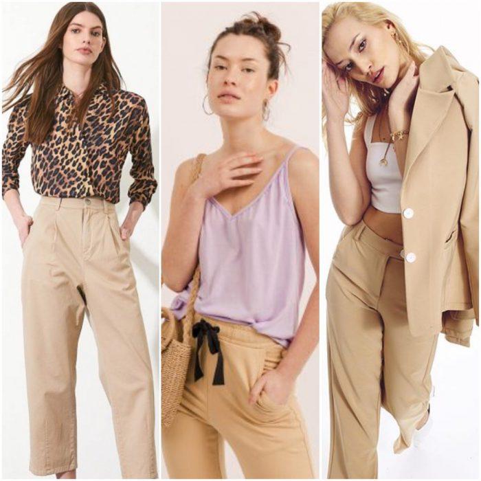 Looks paara mujer con pantalon beige