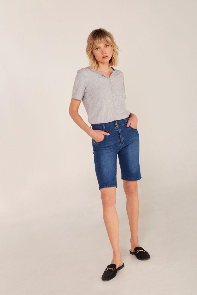 bermuda chupin Viga jeans verano 2021