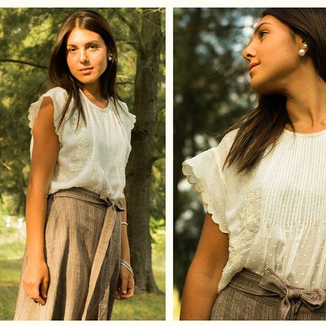 blusa blanca musculosa Las taguas verano 2021