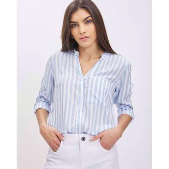 camisa a rayas mujer mujer taverniti jeans verano 2021