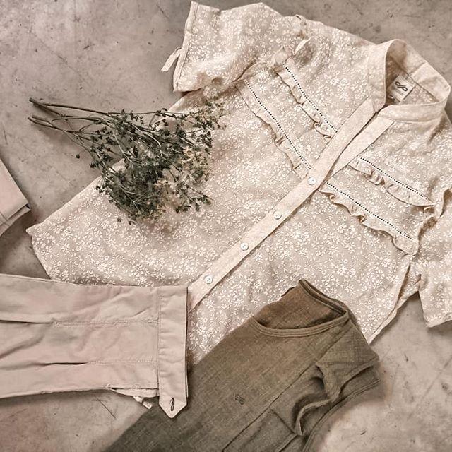 camisa de lino mangas corta mujer Las taguas verano 2021