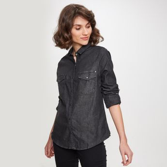 camisa denim mujer mujer taverniti jeans verano 2021