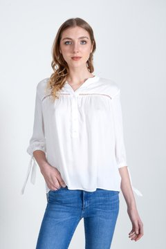 camisola blanca casual juvenil Zhoue verano 2021