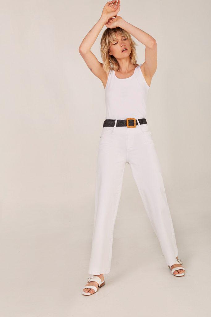 jeans blanco Viga jeans verano 2021