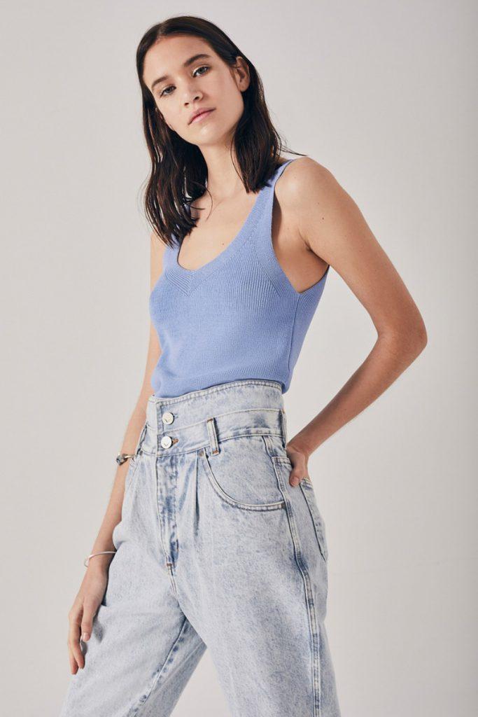 jeans mom tiro alto Rapsodia verano 2021