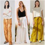 Outfits con pantalones anchos verano 2021