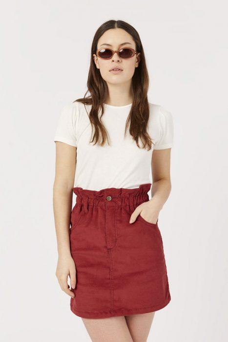 minifalda cintura plisada Inversa verano 2021