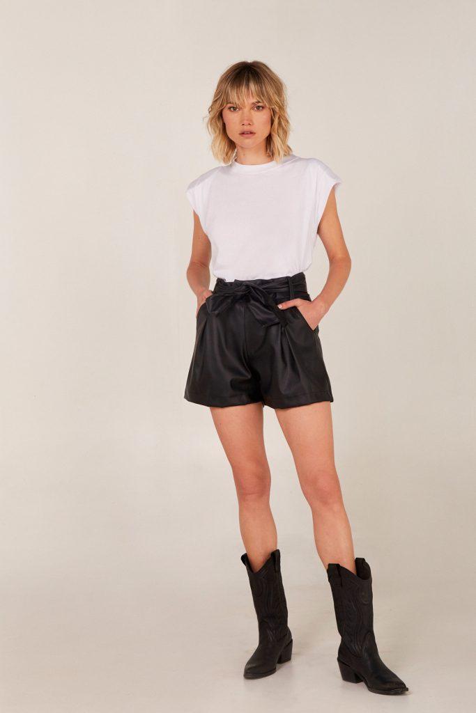 short engomado Viga jeans verano 2021