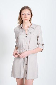 vestido camisero corto lino Zhoue verano 2021