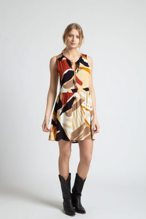 vestido corto estampado para el dia Inversa verano 2021