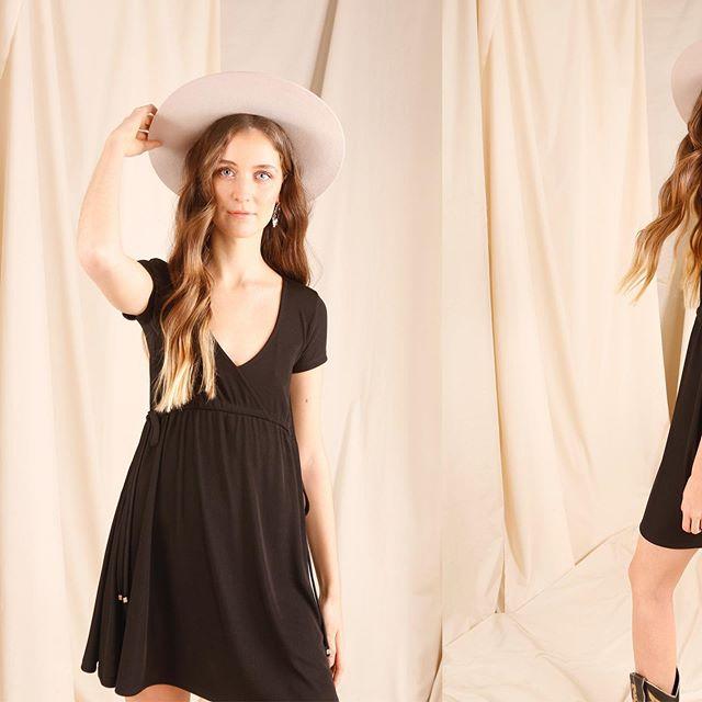 vestido negro casual ted bodin verano 2021