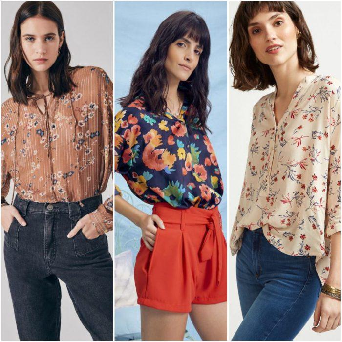 Blusas y camisas estampadas verano 2021 Argentina